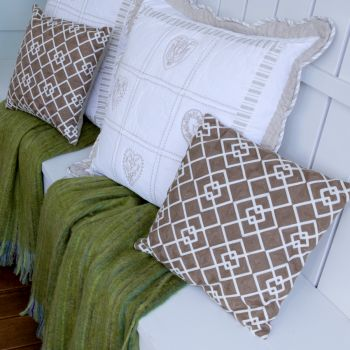40cm Prefilled Embroidered Cushion