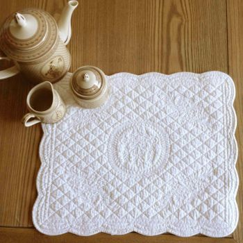 Set of 4 Placemats Ivory W38xL45cm