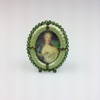 Oval Photo Frame Green