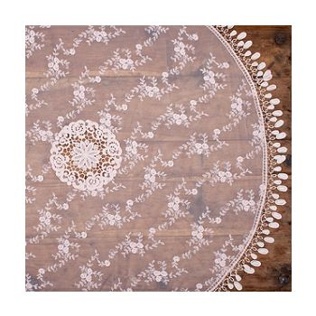 80cm Vintage Pink Lace  Round Topper