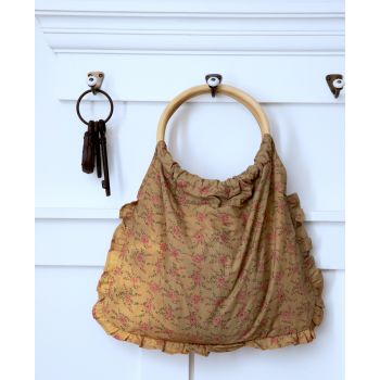 Shabby Chic Floral Earthy Bag