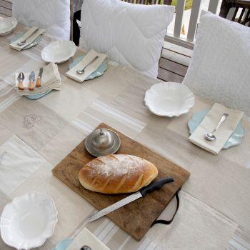 French Double Sided Tablecloth W180xL270cm