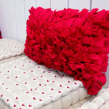 Shaggy Soft Voile Prefilled Pillow