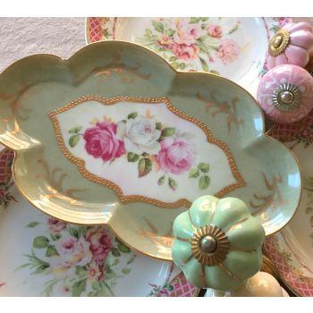Oval Floral Platter