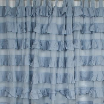 Set of 2 Frilly Curtains W110xL220cm
