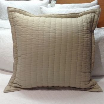 60x60cm Linen Hand Quilted Euro