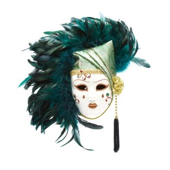 Oriental Feather Mask